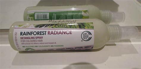 Shoo Rainforest Shop shop rainforest radiance detangling spray the