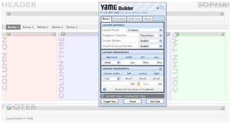 layout yaml yaml css framework