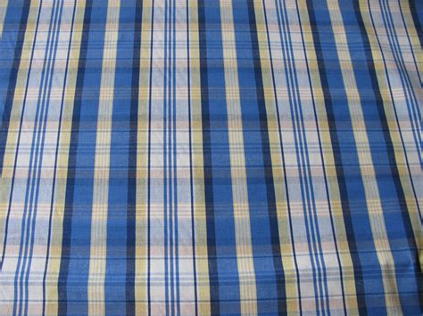 blue plaid upholstery fabric blue plaid fabric fabric on sale vintage blue by