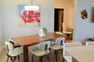 mid century modern coastal getaway midcentury dining room