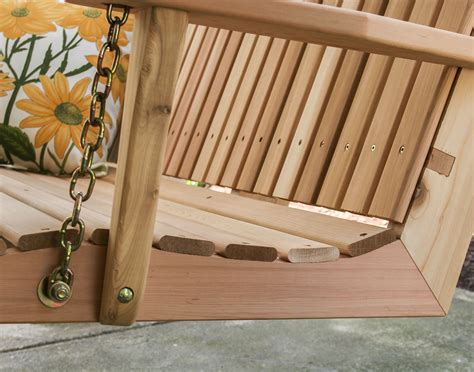 red cedar porch swing red cedar american sweetheart porch swing