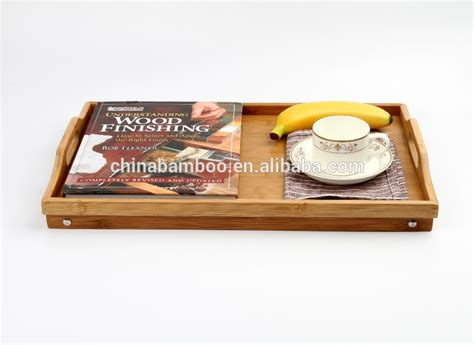 bed food tray large cheap bamboo tray bamboo serving tray adjustable