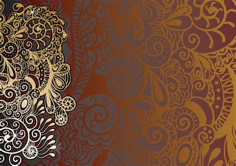 indian pattern background vector fine pattern background vector free vector 4vector