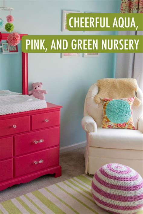 baby p s cheerful aqua pink and green nursery nursery pink green nursery and babies