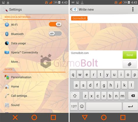 themes color status bar install xperia theme greenshine orangecrush with colored