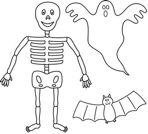 skeleton template to cut out printable skeleton template cut out clipart best