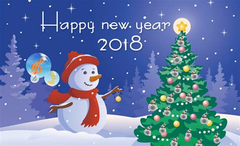 happy new year 2018 greetings free new year greeting