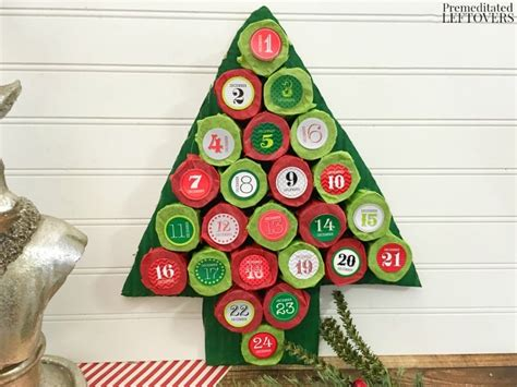 diy christmas tree advent calendar tutorial using paper