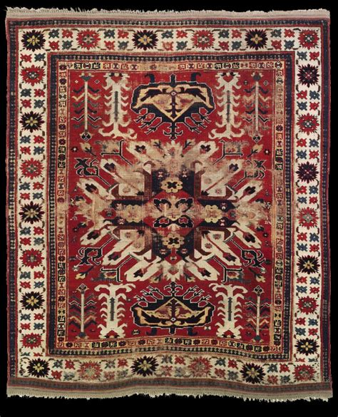 azerbaijan rugs the liambei karabagh sunburst medallion rug early 19th century azerbaijan