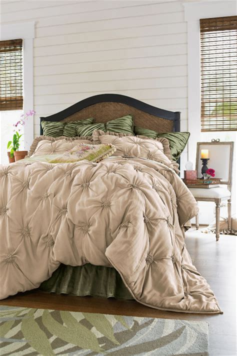 Lombardi Smocked Coverlet lombardi smocked coverlet mediterranean bedding st louis by soft surroundings