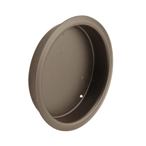 Sliding Closet Door Pull Shop Prime Line 2 In Plated Rubbed Bronze Sliding Closet Door Pull At Lowes