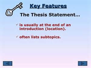 Location Essay by Thesis Statement Subtopics And Location