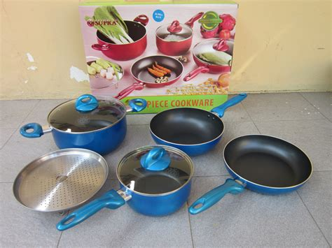 Panci Set Supra Rosemary 7 Pcs panci set rosemary 7 pcs wokpan teflon anti gores supra