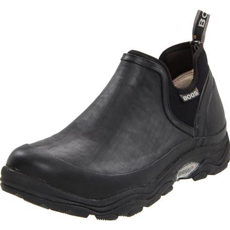 black waterproof shoes bogs mens bridgeport waterproof hiking shoe in black for