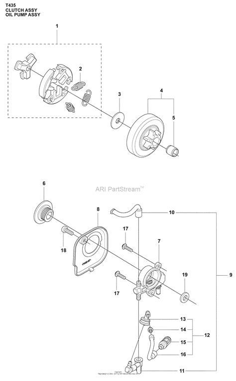 husqvarna     parts diagram  clutch drum oiler