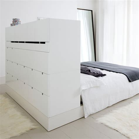 bedroom storage systems turn a headboard into drawers storage solutions for