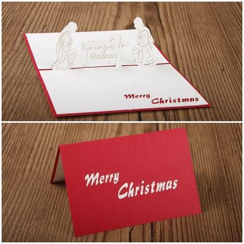 Laser Cut Popup Card Template by Nativity 3d Laser Cut Pop Up Cards Craft Paper Cut