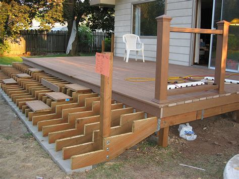Fireplace Roof Caps by Deck Stairs Support Deck Design And Ideas