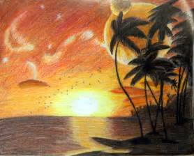 how to draw a sunset with colored pencils sunset via colored pencil by corrbin on deviantart