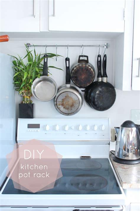 Pots Kitchen Menu by Diy Kitchen Pot Rack Foxes