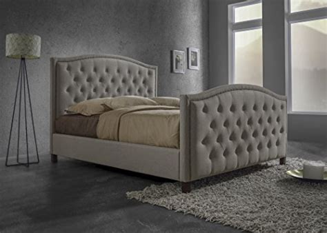 Tufted Headboard And Footboard Baxton Studio Modern Fabric Button Tufted Headboard And Footboard Bed With Nail Trim