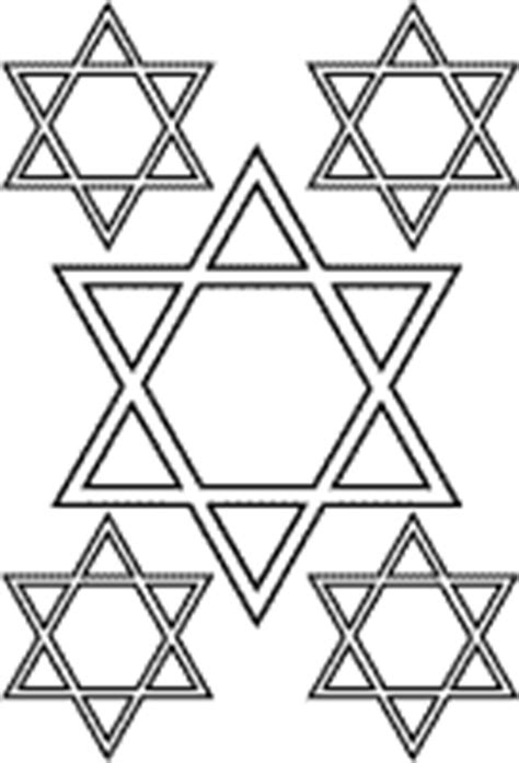 coloring page of the star of david hanukkah coloring pages and activity sheets