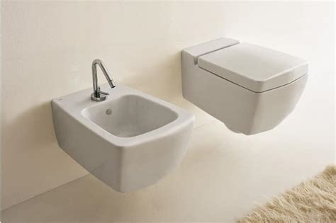 Bidet Bathroom Fixture Wall Hung Wc And Wall Hung Bidet With Soft System