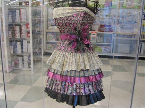Paper Dress Craft - scrapbook paper dress diy inspired