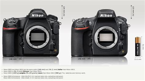 nikon specs nikon d850 vs nikon d810 specifications comparison