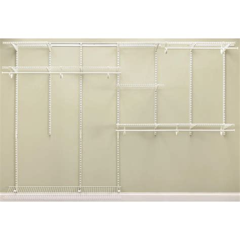 Homedepot Closet Organizers by Closetmaid Shelftrack 7 Ft 10 Ft White Closet Organizer Kit 2891 The Home Depot