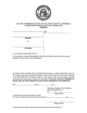 Fulton Magistrate Court Search Statement Claim Fulton Fill Printable Fillable Blank Pdffiller