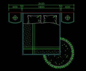 King Size Bed Cad Block Queen Beds Autocad Blocks Autocad Drawing Autocad Dwg