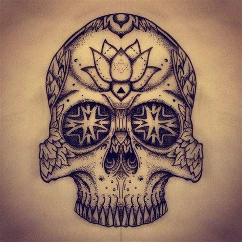tattoo mandala skull dotwork tattoo mandala skull instagram com