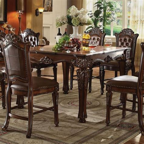 acme dining room furniture acme furniture vendome counter height dining table with
