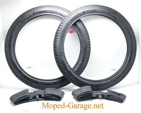 Motorrad Reifen Schlauch by Moped Garage Net Mofa Moped Reifen Schlauch Satz 2 X