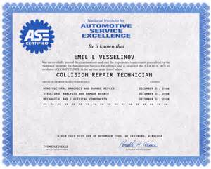 Ase Certificate Template by Certificates Top Motor