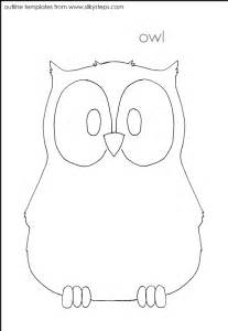 Owl Template by Owl Craft Template Coloring Home