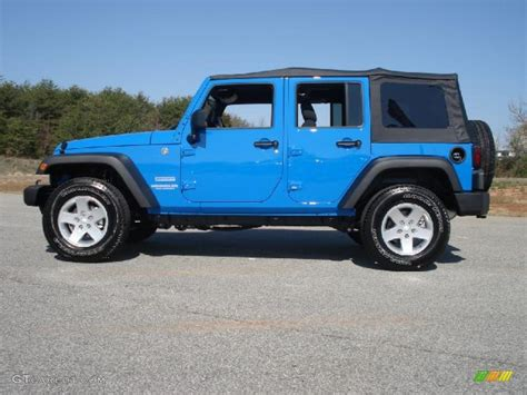 Jeep Wrangler Unlimited Blue Cosmos Blue 2011 Jeep Wrangler Unlimited Sport 4x4