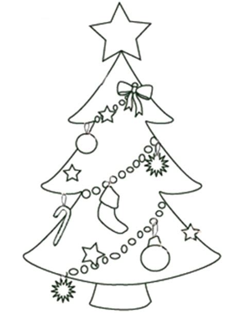 Free Printable Christmas Tree Templates Tree Coloring Page With Ornaments