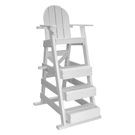recycled plastic three platform lifeguard chair