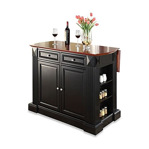 splendid black kitchen island with drop leaf from home buy crosley furniture hardwood drop leaf breakfast bar