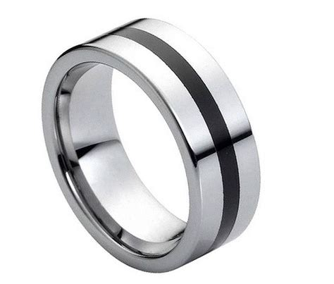 Tungsten Wedding Bands Comfort Fit by S Tungsten Carbide Wedding Ring Classic Comfort Fit