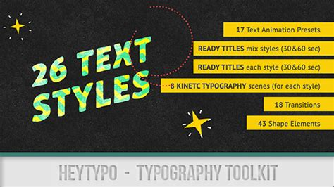 after effects template torrent heytypo typography toolkit by heyalisa videohive