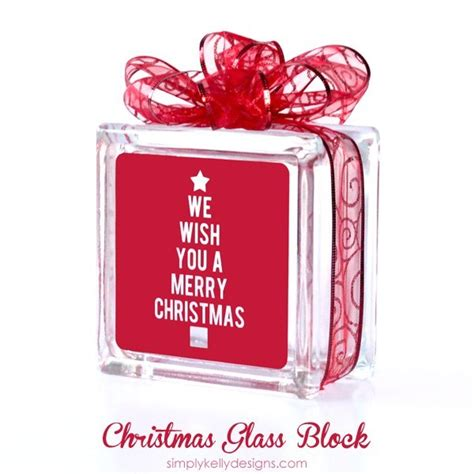 merry christmas glass block   cut file