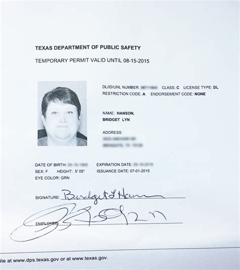 temporary drivers license template 27 images of temporary paper driver license template