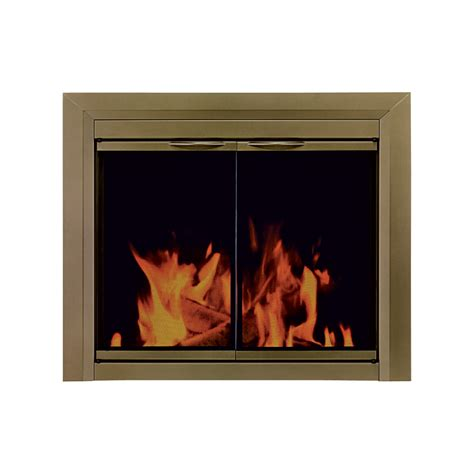 Pleasant Hearth Cahill Fireplace Glass Door For Masonry Masonry Fireplace Glass Doors