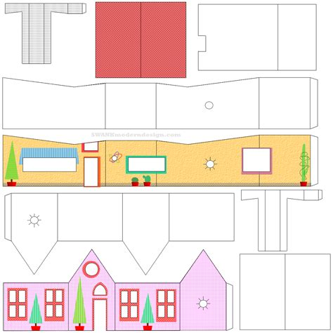printable house cut out best photos of 3d house paper cut out free paper house
