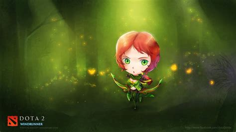 dota 2 windrunner wallpaper hd windrunner dota 2 chibi art x1 wallpaper hd