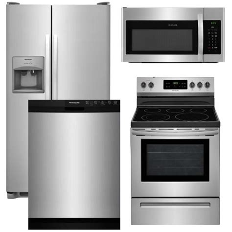 frigidaire kitchen appliance package package 13 frigidaire appliance package 4 piece