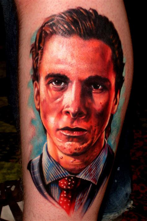american psycho tattoo bateman christian bale from american psycho